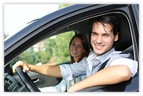 Man Driving With Automobile Insurance